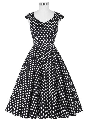 black-and-white-polka-rockabilly-dress