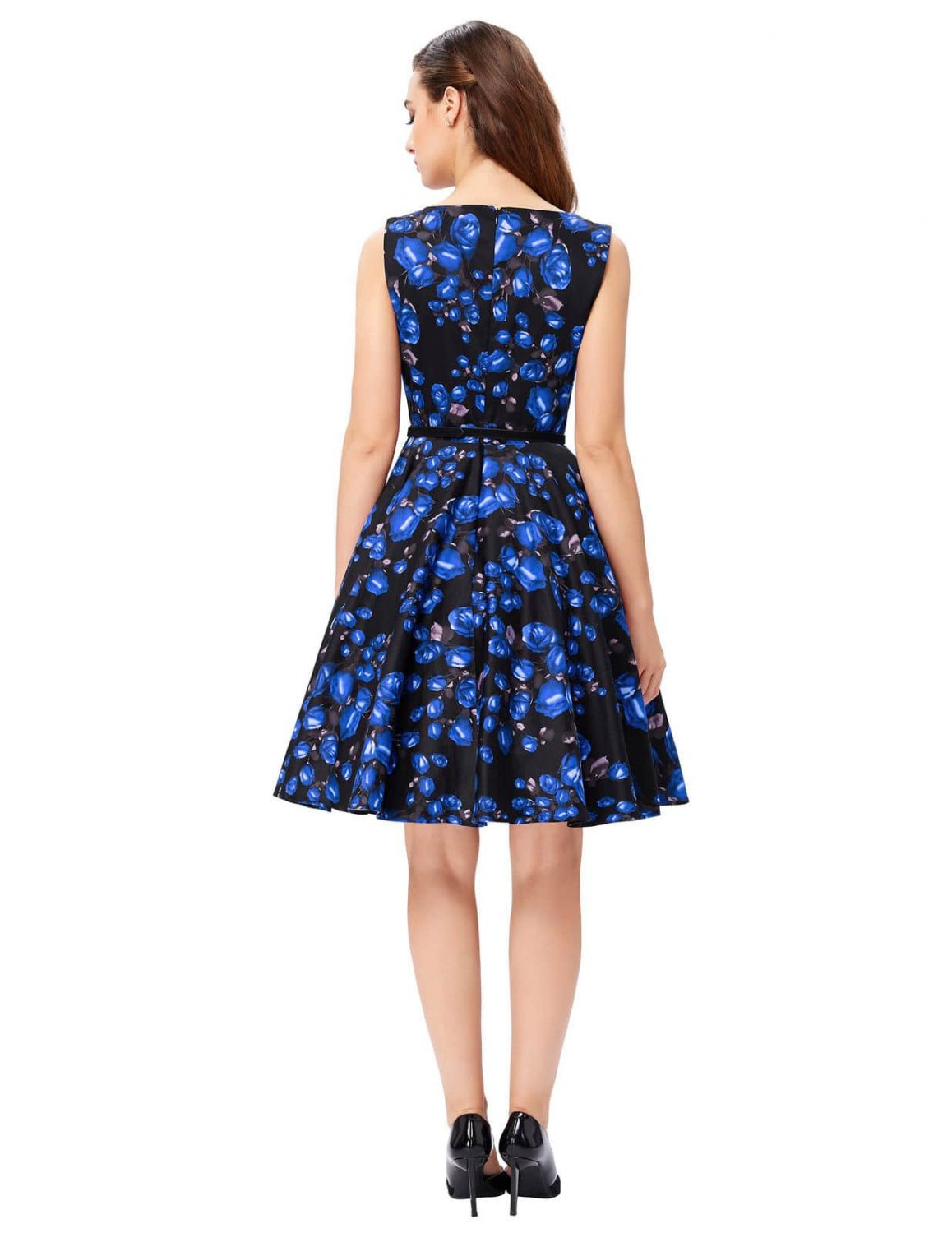 Blue Rose Swing Dress 1950sglam