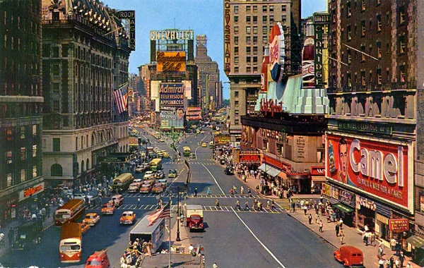 New York Times Square 1950s