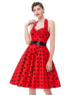 red-swing-polka-dot-halter-dress