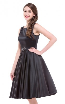 audrey-black-satin-swing-dress