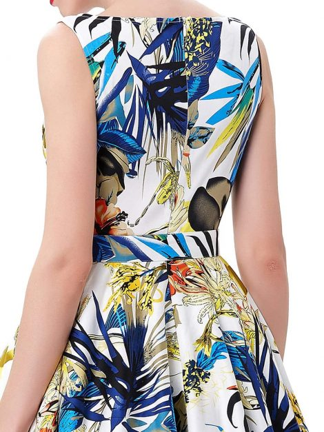audrey-retro-tropical-floral-swing-dress-back-detail