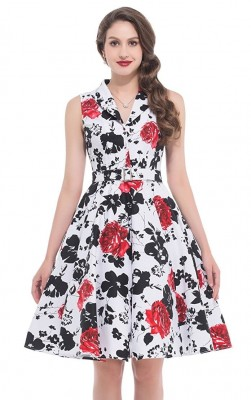 vintage-floral-lapel-dress