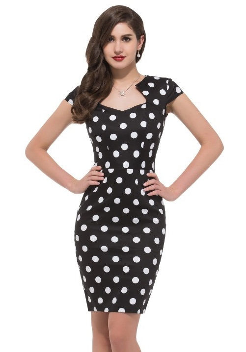 Black And White Wiggle Dress 71