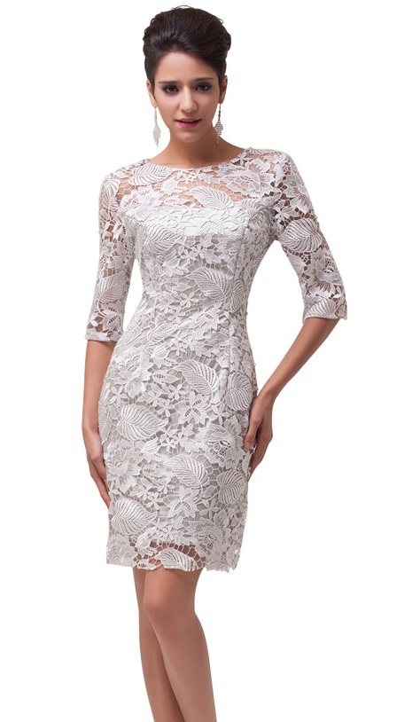 8bedc62c08dc Ava Off White Lace Wiggle Dress