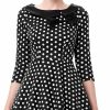 ellie-black-and-white-polka-dot-dress-detail