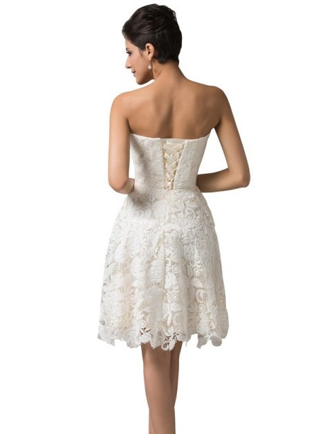 Olivia Ivory Lace Dress - back
