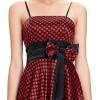 Suzie Satin Party Polka Dress-front detail