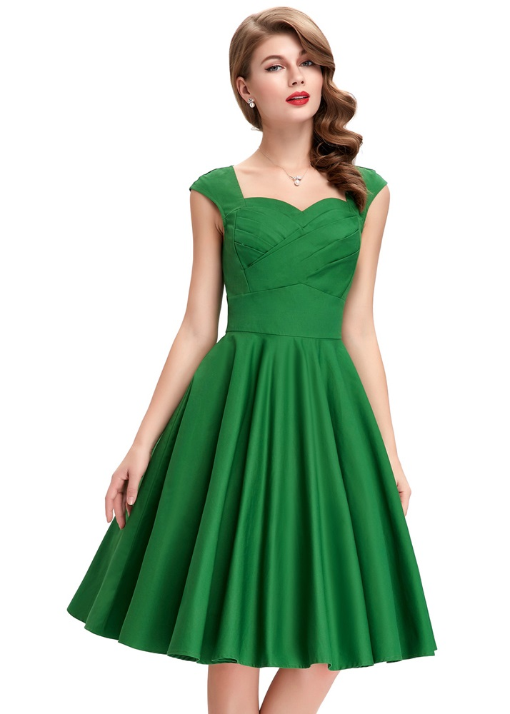 tiffany-green-sweetheart-swing-dress