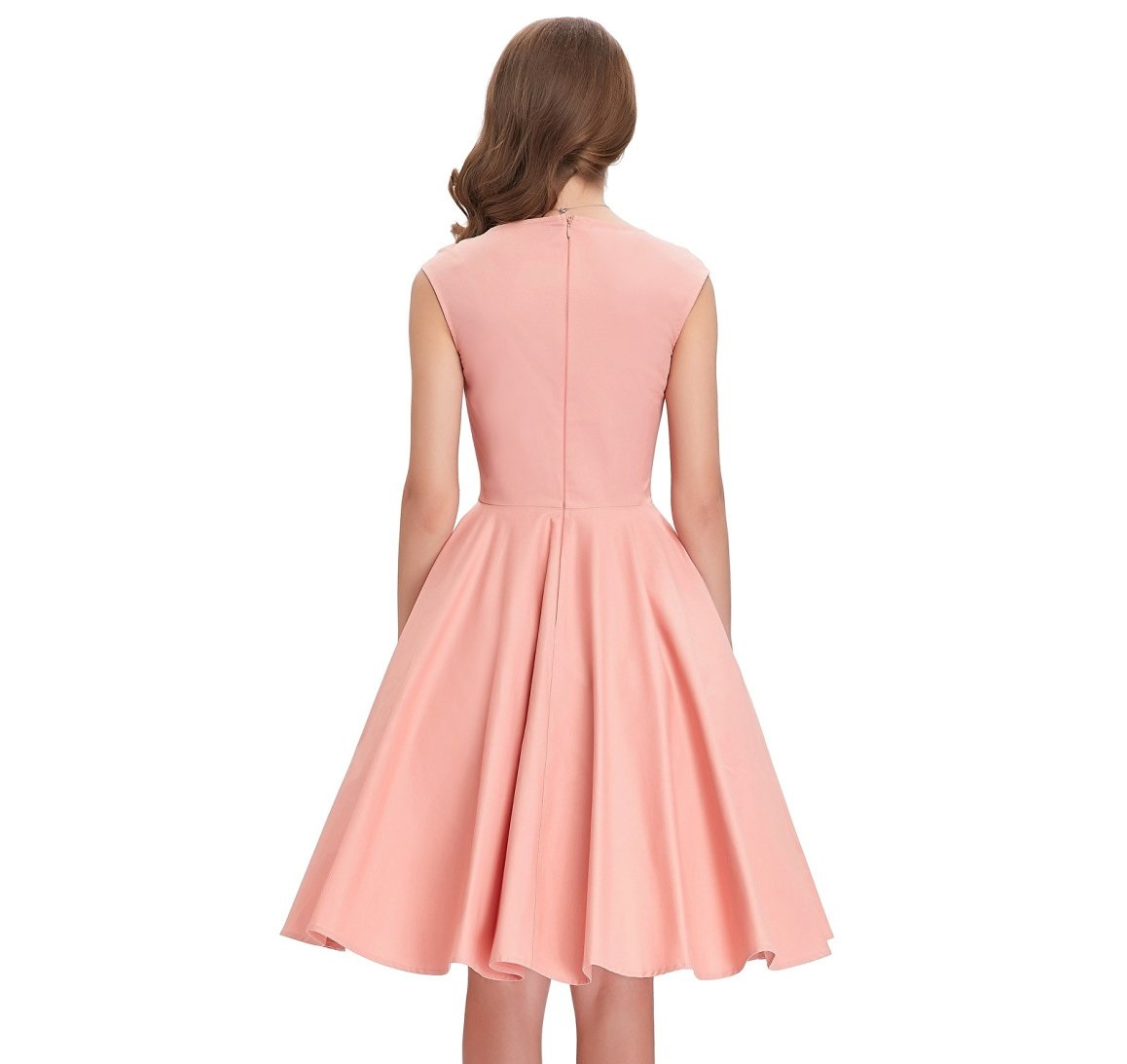 Tiffany Peach Sweetheart Swing Dress Vintage Clothing