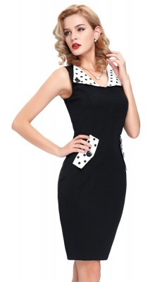 Betty lbd with polka highlights