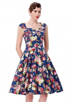 debbie-blue-floral-swing-dress