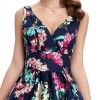 Maggie crossover floral swing dress - detail