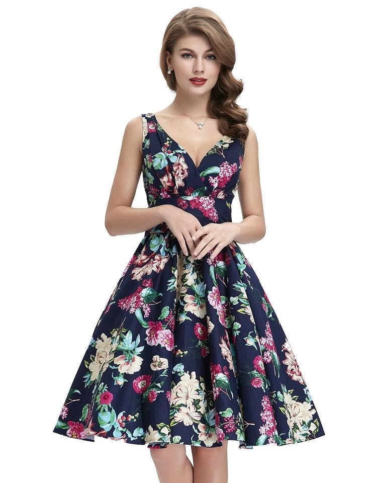 Maggie crossover floral swing dress