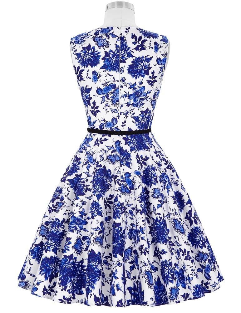 blue-porcelain-vintage-dress-back