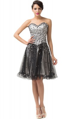 Vanessa beaded evening dress-front
