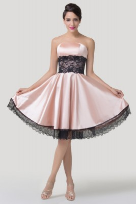 Pretty in pink satin dress-front
