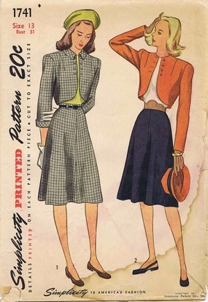 1940s skirts