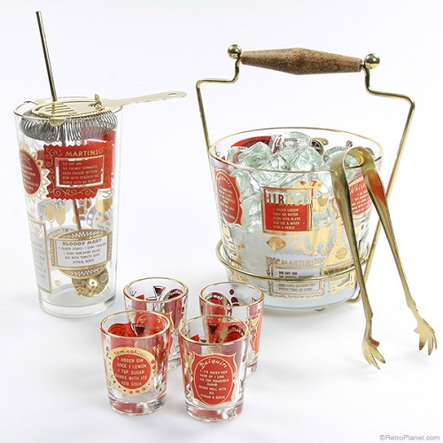 1950s Cocktail-Party-Set