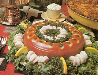 1950s prawns in aspic