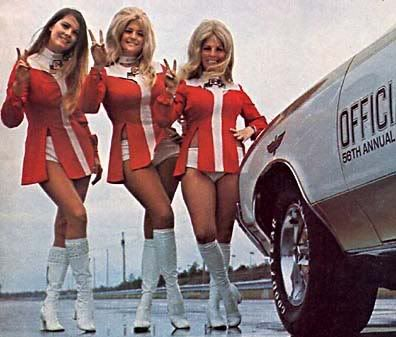 Linda Vaughn and Hurstettes cover of Super Stock & drag illustrated
