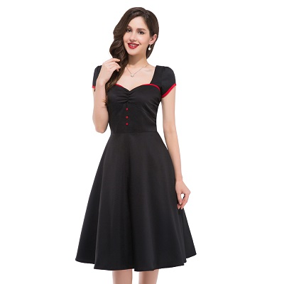 Sweetheart vintage swing dress-sized