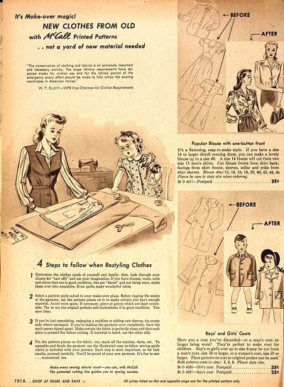 vintage 1940s McCalls catalogue