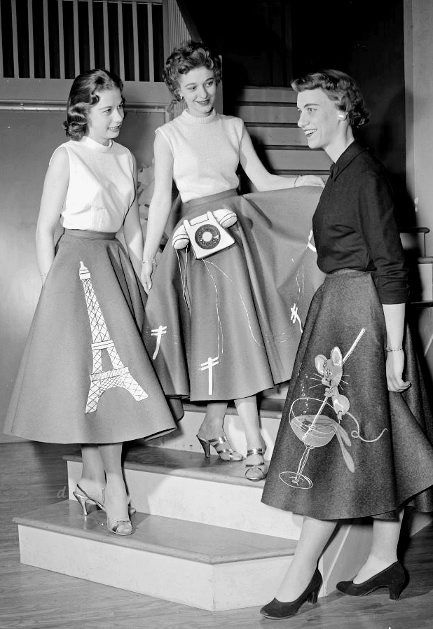 1950s circle skirts with variations