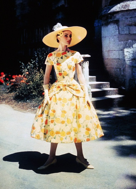 Audrey Hepburn floral dress Funny Face 1957