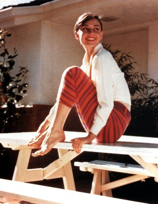 Audrey Hepburn in capri pants 1956