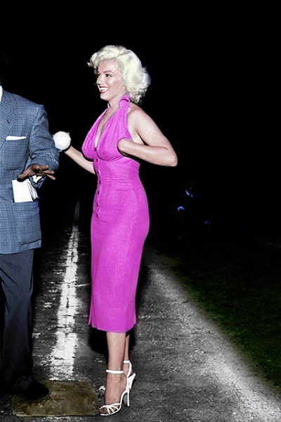 Marilyn Monroe in halter wiggle dress