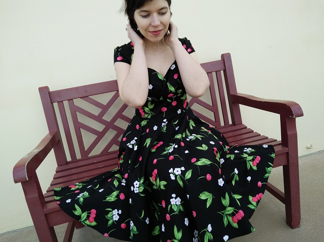 Vintage Sweetheart cherry swing dress