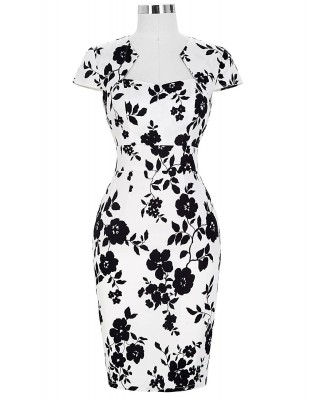 black-and-white-vintage-pencil-dress