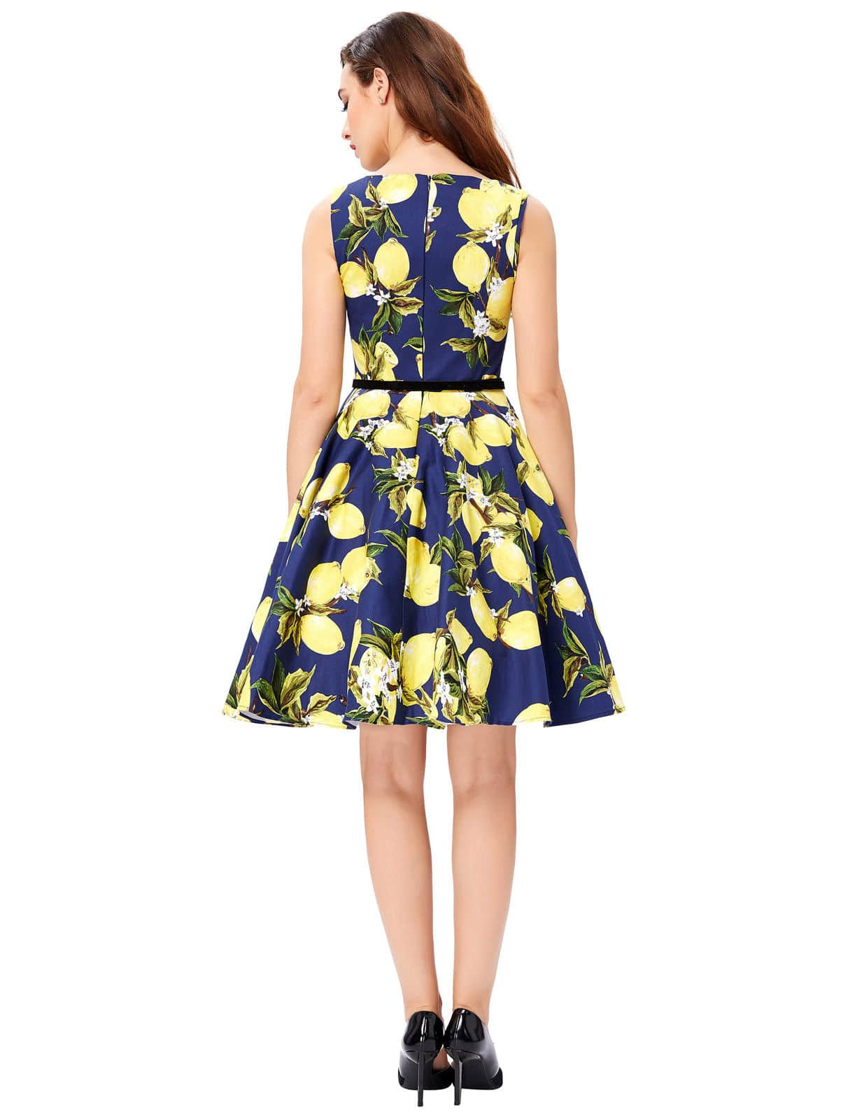 Blue Lemonade Retro Swing Dress Vintage Clothing Online