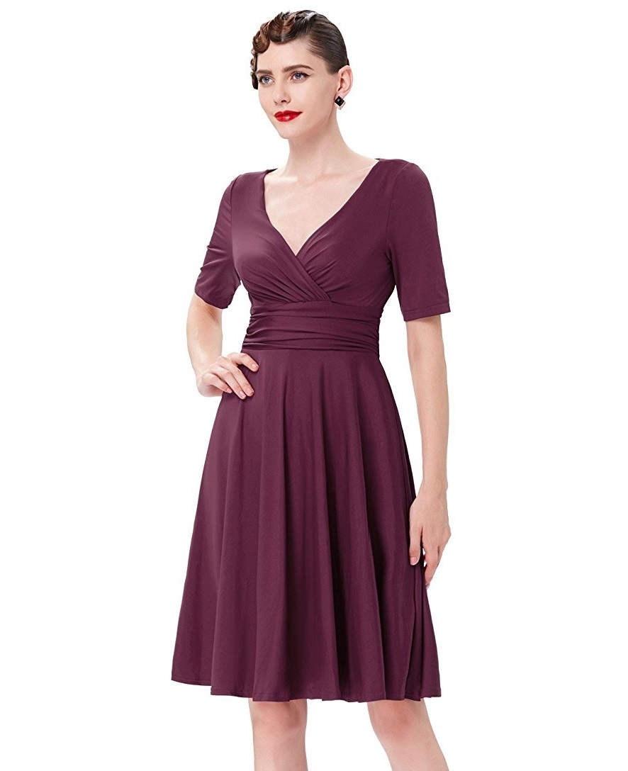 Classically me burgundy retro dress