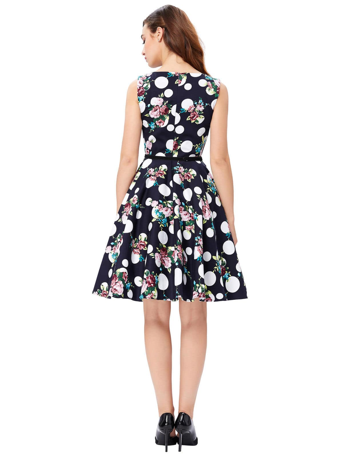 Imogen 50s Style Swing Dress Vintage Clothing Online