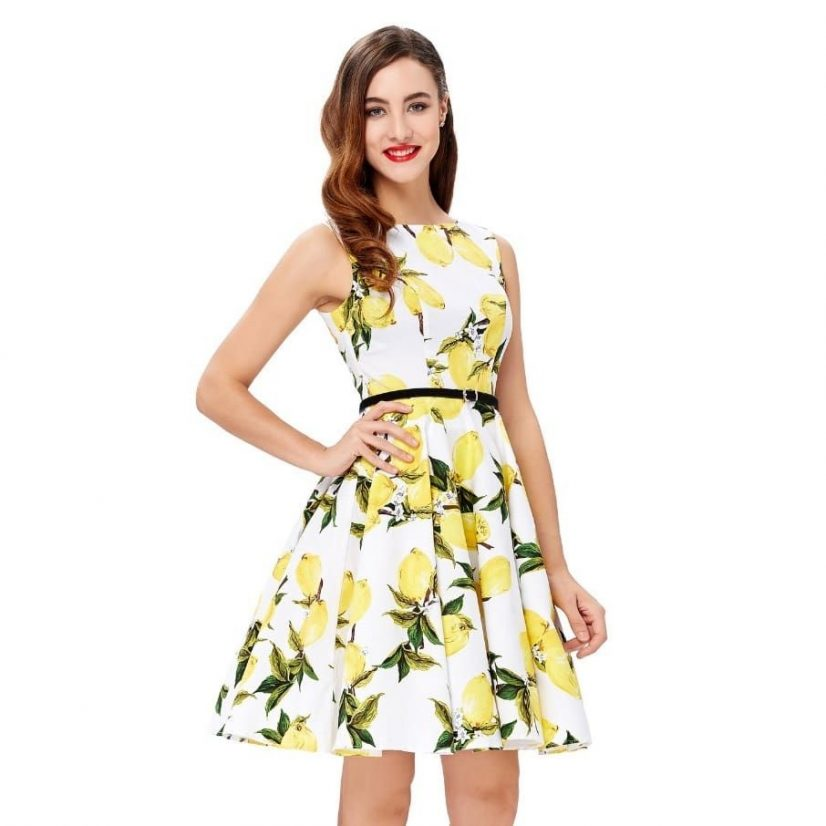 Lemonade retro swing dress