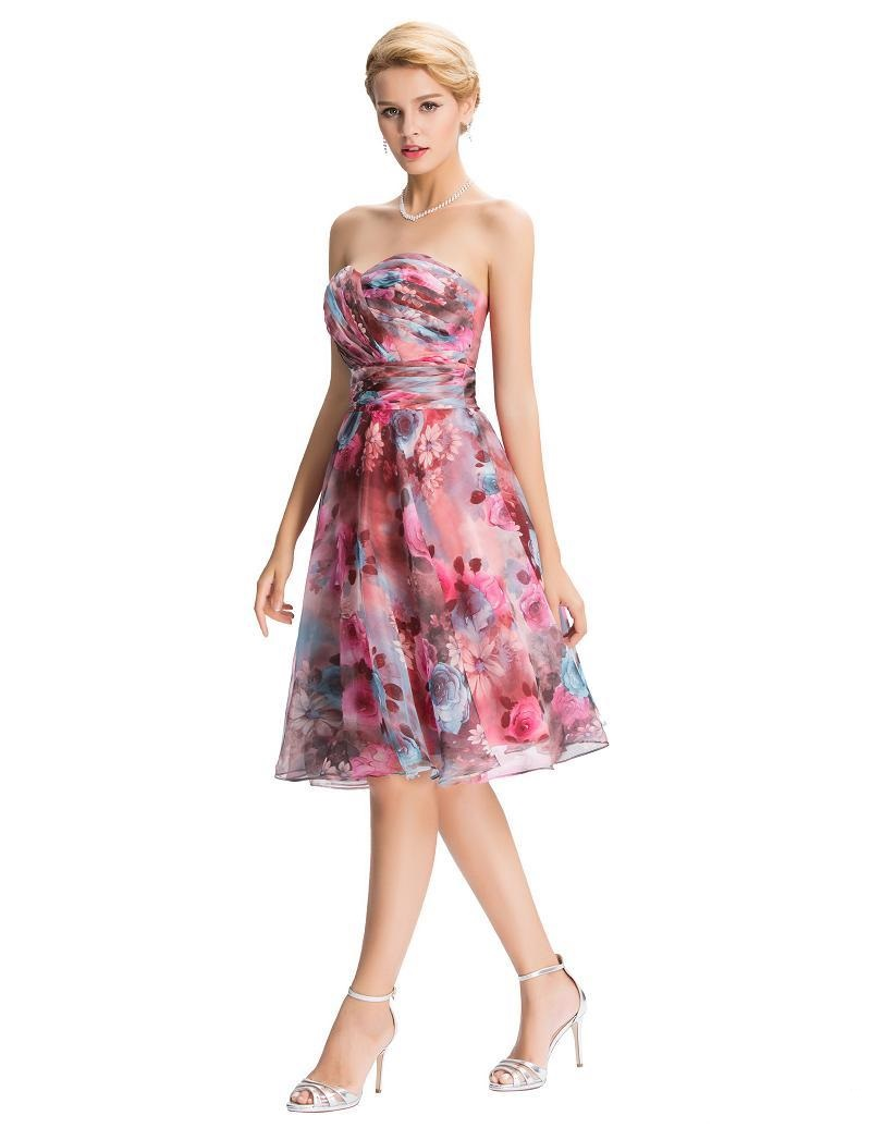 Mandy Floral Chiffon Vintage Dress Vintage Clothing