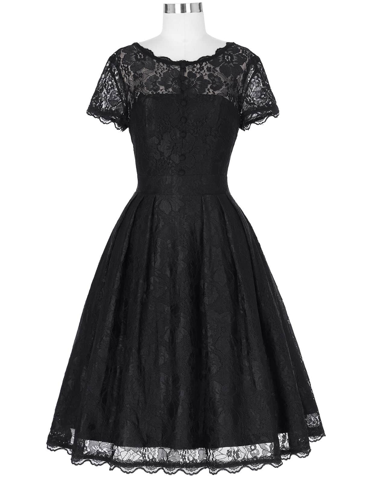 margot black lace vintage dress 1950sglam