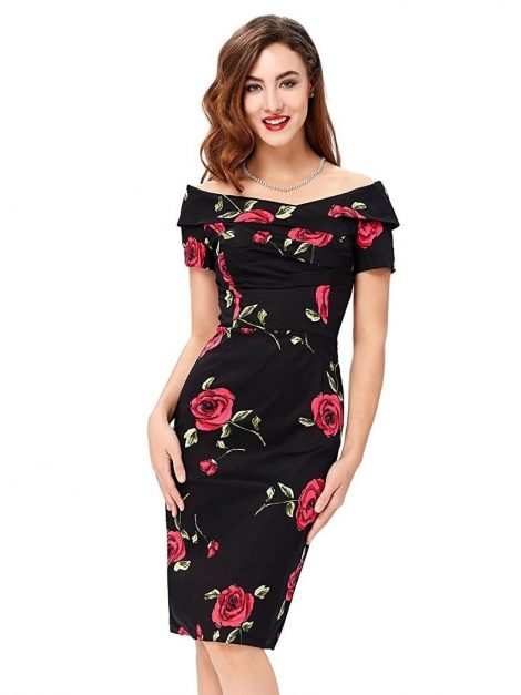 Olivia Rose Wiggle Retro Dress
