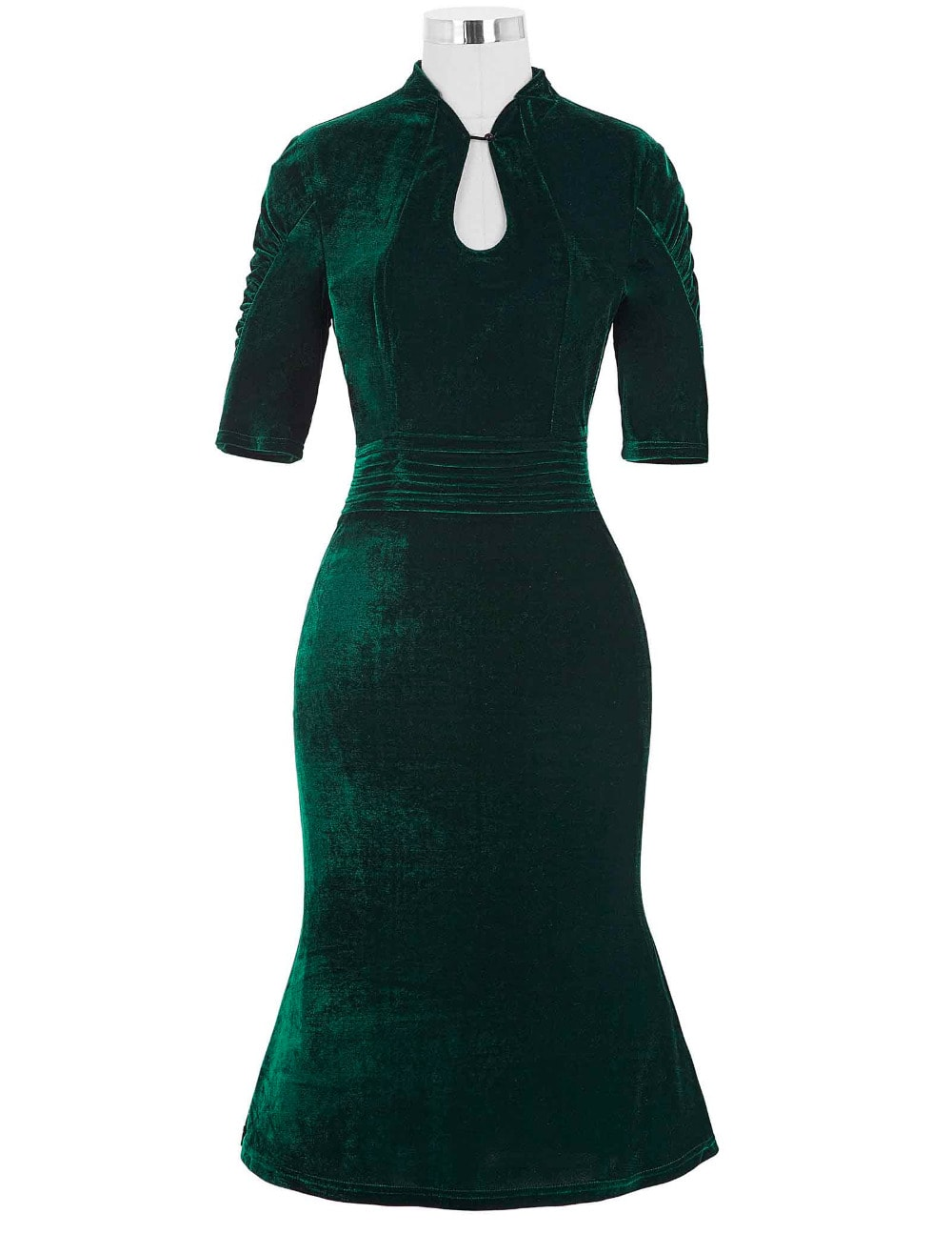 shanghai-lilly-emerald-velvet-vintage-dress