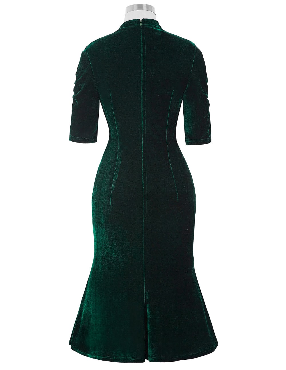 shanghai-lilly-emerald-velvet-vintage-dress-back