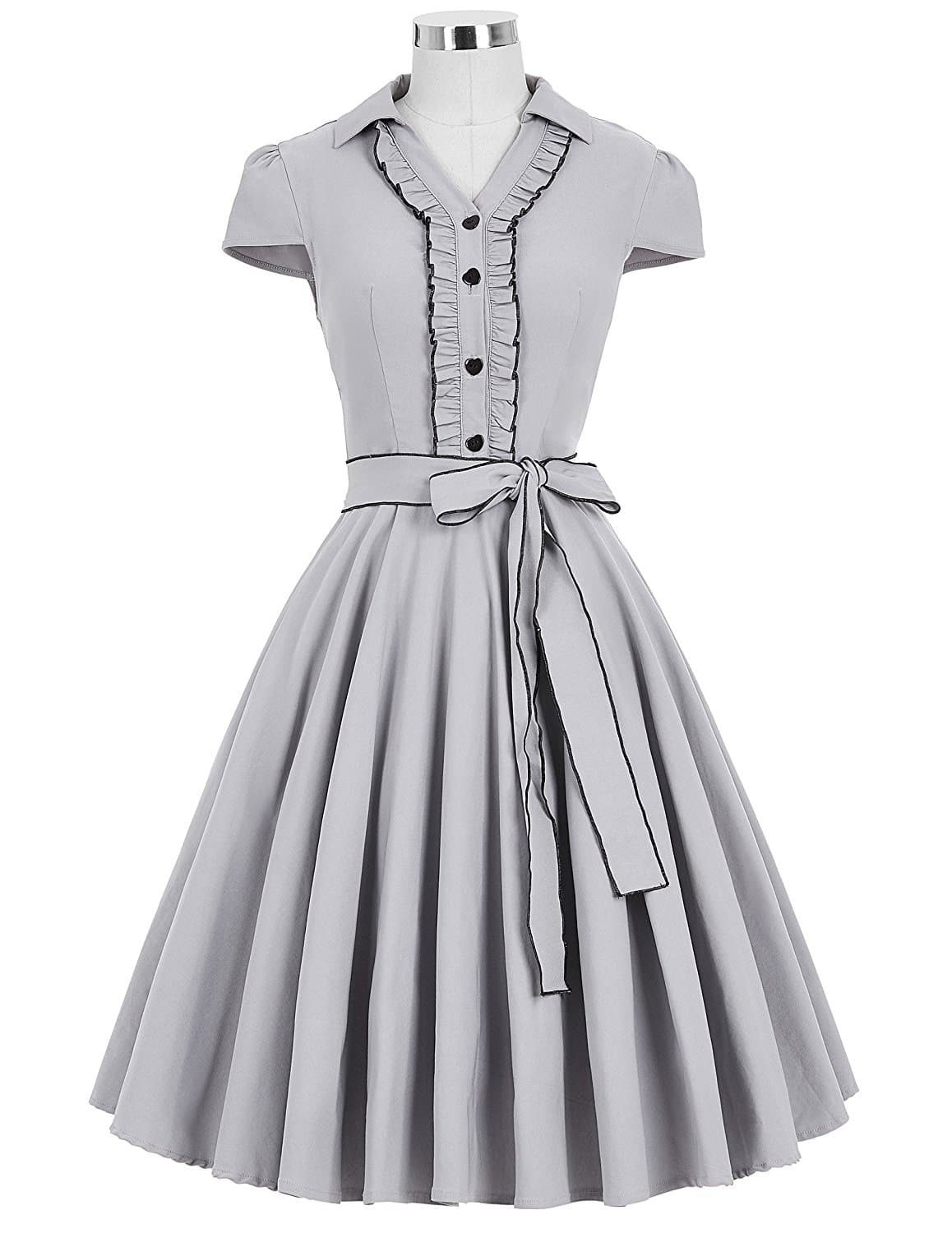 3323589bde Shirty' Gray Vintage Dress   Vintage Clothing Online - 1950s Glam