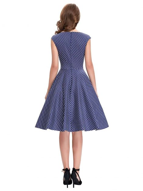 tiffany-navy-blue-polka-dot-dress-back