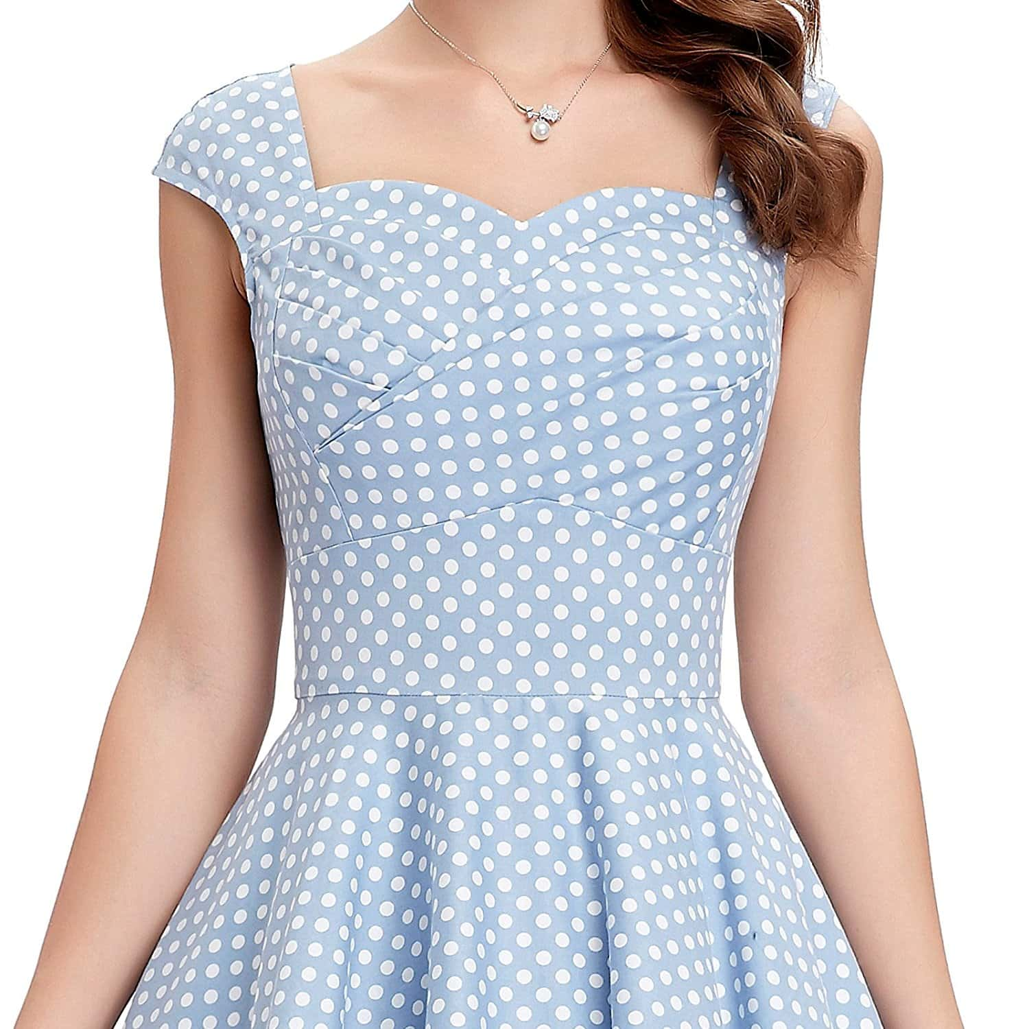 tiffany-dusty-blue-polka-dot-dress-detail