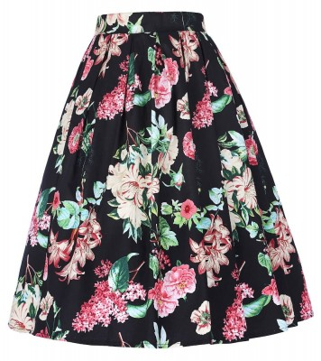 floral-pleated-swing-skirt
