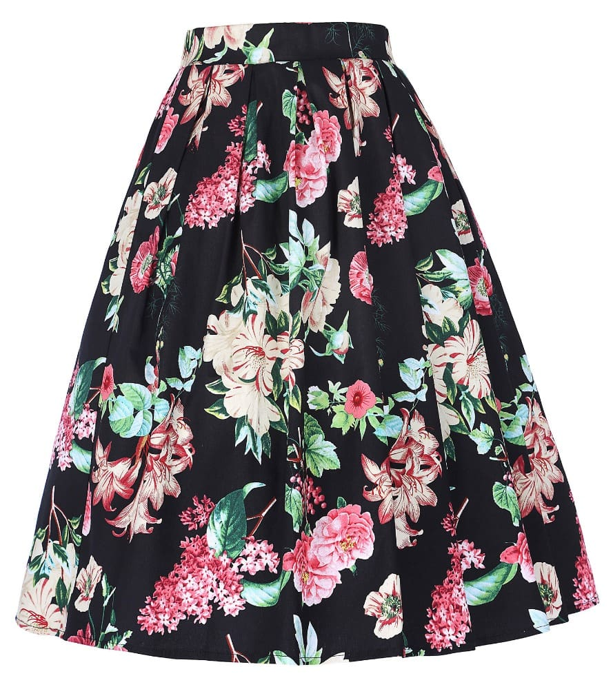 899a4dd03d Floral Pleated Swing Skirt   Vintage Clothing Online - 1950s Glam