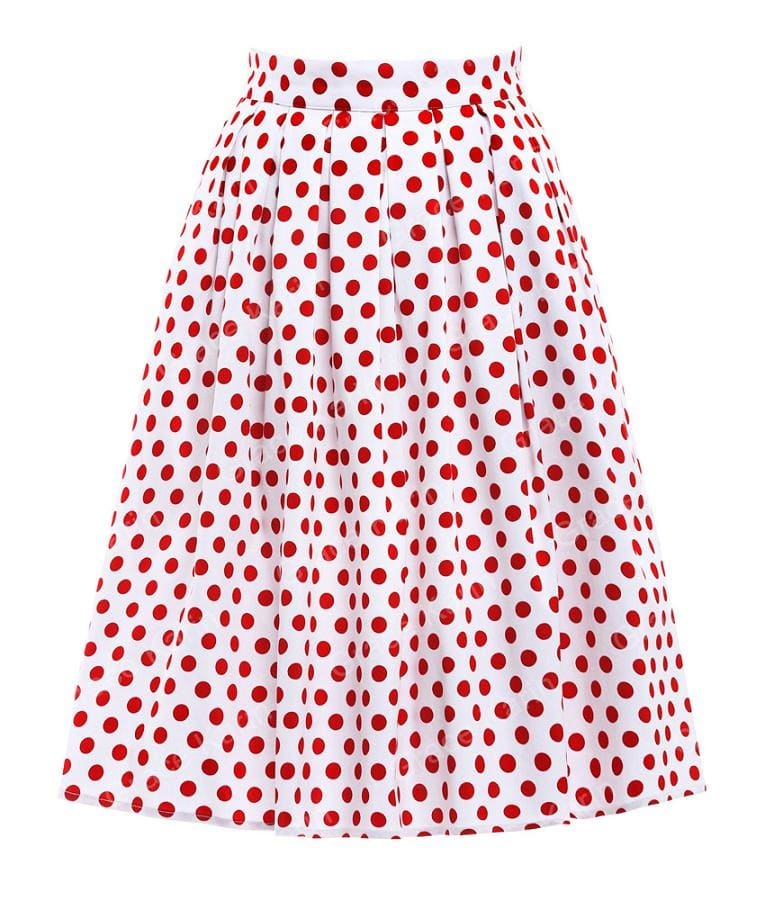 red-polka-dot-swing-skirt