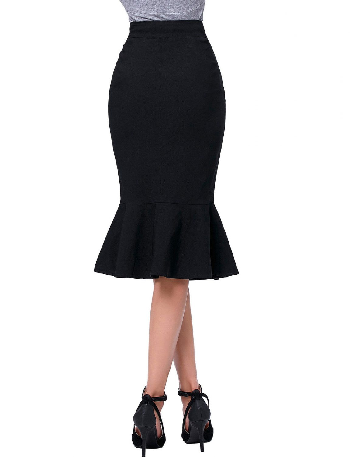 the-siren-black-vintage-skirt-back