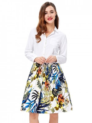 tropical-floral-retro-skirt